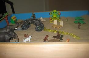 Работа с песком